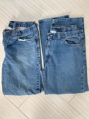 LOTS OF MENS BLUE DENIM JEANS 38 x 32 ~ FADED GLORY RELAXED FIT ~ $5 EACH OBO for Sale in Etiwanda, CA