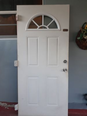 White medal outdoor door for Sale in Hialeah, FL