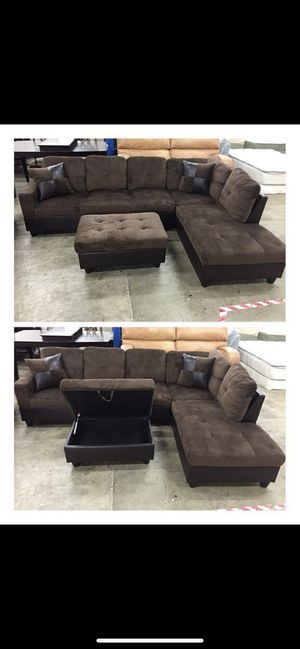 Brand New Brown Microfiber Corner Sectional for Sale in Snohomish, WA