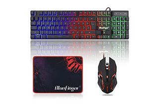 BlueFinger RGB Gaming Keyboard and Backlit Mouse Combo, USB Wired Backlit Keyboard, LED Gaming Keyboard Mouse Set for Laptop PC Computer Game and Work for Sale in Lexington, KY