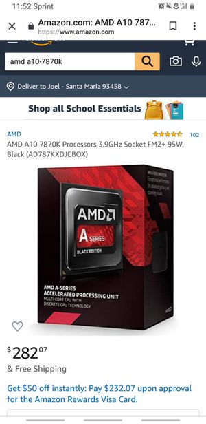 CPU and Motherboard for Sale in Santa Maria, CA