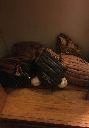 Conditioned baseball gloves (ask for details) for Sale in Cleveland, OH