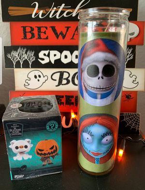 Nightmare Before Christmas Funko and Candle for Sale in Montclair, CA
