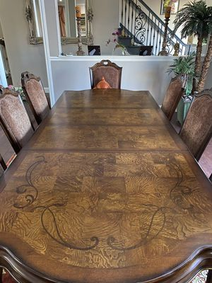 Wooden Dining Table with 8 Chairs for Sale in Concord, CA