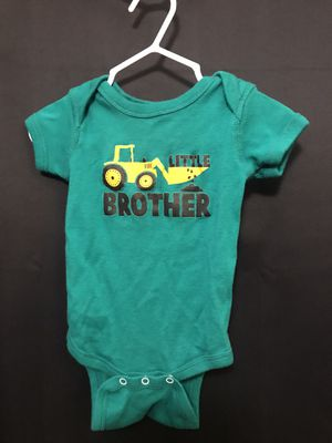 """(#296) """"Little Brother"""" onesie with excavator 3 months for Sale in Kent, WA"""