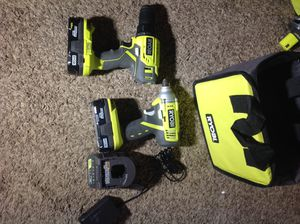 Ryobi brand NEW Impact & Drill COMBO with 2 batteries, ONE+ Charger & bag!! ALL fir $70! for Sale in Irving, TX