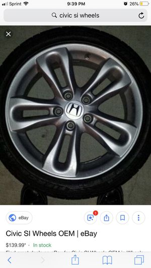 LOOKING FOR 8th GEN CIVIC SI WHEELS for Sale in Manassas, VA