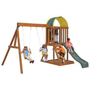 Wooden Swing Set Playset for Kids Outdoor Games for Sale in Los Angeles, CA