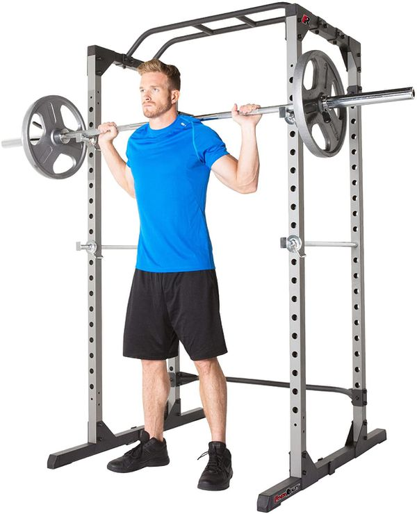 FITNESS REALITY 810XLT Power squat rack cage with pull up bar