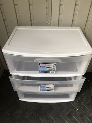 3 Drawer plastic cart for Sale in Chino Hills, CA