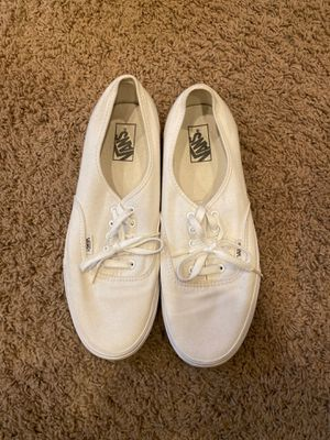 Classic White Vans (Size: Men 11.5 or Women 13) for Sale in Puyallup, WA