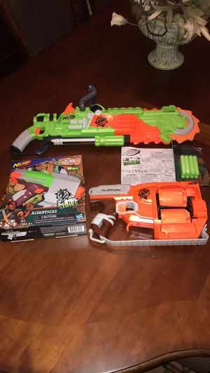 Nerf zombie strike guns for Sale in Thompson's Station, TN