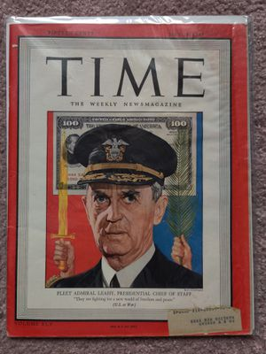TIME May 28, 1945 - Fleet Admiral Leahy Chief of Staff for Sale in South Windsor, CT