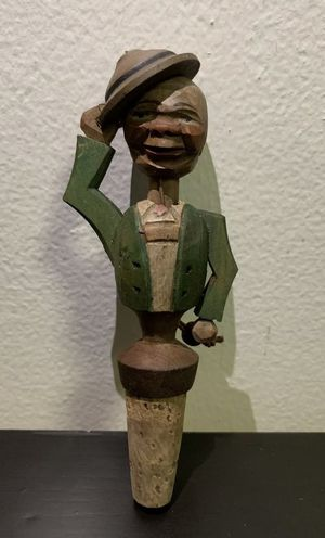 Antique ANRI Mechanical Wine Bottle Cork Stopper Man With Hat, Working for Sale in Brooklyn, NY