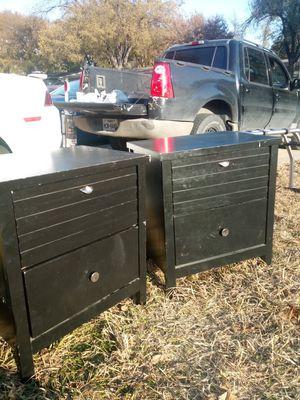Black 2 dresser for Sale in Dallas, TX