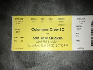 Columbus Crew vs San Jose (TOMORROW) for Sale in Columbus, OH