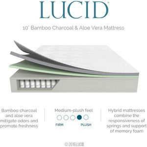 """New QUEEN size 10"""" Hybrid Bamboo Charcoal and Aloe Vera Infused Memory Foam mattress for Sale in Columbus, OH"""