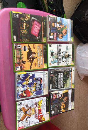 X-box + 17 games+ dvd control and receiver+ 2 controla+ dancing pad for Sale in Boston, MA