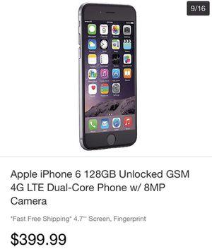 Iphone 6 128gb for Sale in Miami, FL