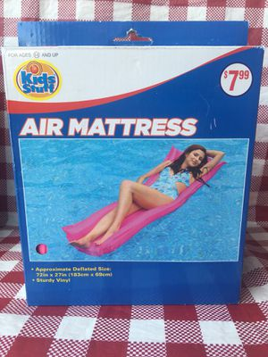 Pool Air mattress 72x 27 inches pink for Sale in Riverside, CA