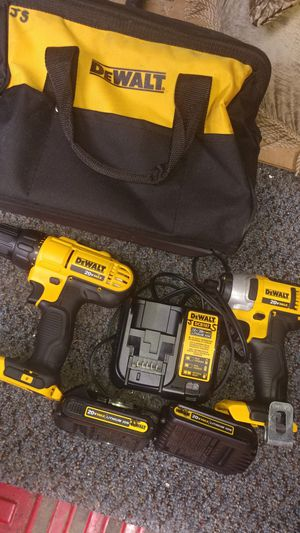 Dewalt 20v max impact driver and drill set for Sale in Minerva, OH