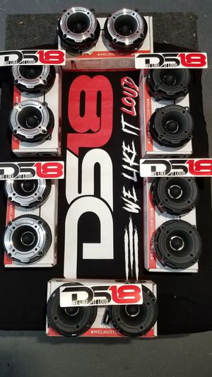 Ds18 Pro Bullet Twitters $30 set(2)/Tweeter de bala ds 18 audio $30 el par(2) for Sale in Houston, TX