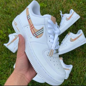 Burberry custom Air force ones for Sale in UPPER ARLNGTN, OH