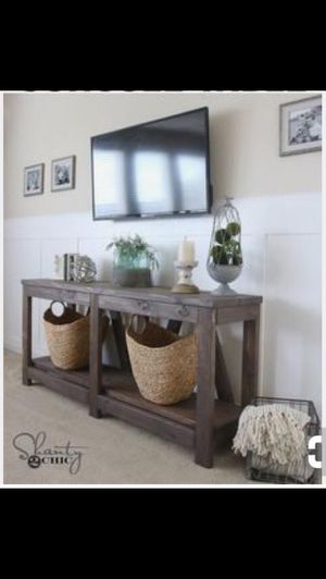 Diagonal base console table for Sale in Pittsburgh, PA