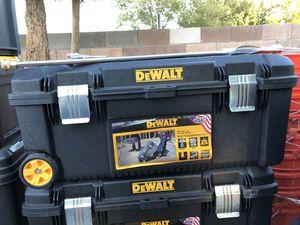 DEWALT 28 in. 12 Gal. Mobile Tool Box $20 each missing drag Handles for Sale in North Las Vegas, NV