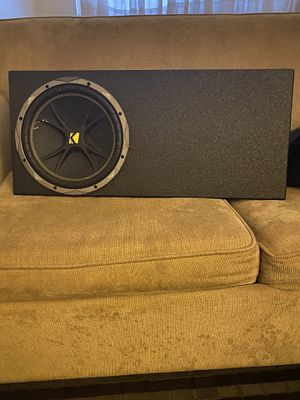 12 in Kicker Subwoofer and Box for Sale in Colchester, VT