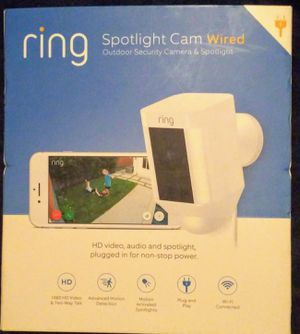ring Spotlight Cam Wired (NEW) for Sale in Richardson, TX
