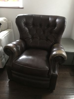 Brown luxury leather recliner chair for Sale in Nashville, TN