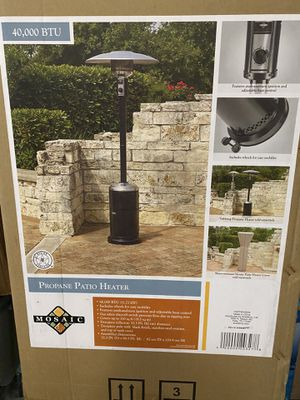 (2x) Mosaic 40000 BTU LPG Outdoor Heating Propane Patio Heater for Sale in Brooklyn, NY