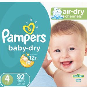 Pampers Baby Dry Size 4-((92 diapers)) for Sale in Dallas, TX