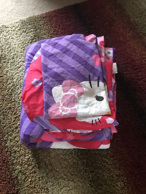 Hello kitty twin set( 4 pieces.) for Sale in Hoffman Estates, IL