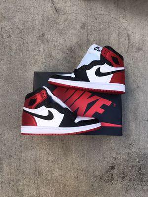 "Air Jordan 1 Retro High ""Satin Black Toe"" for Sale in Los Angeles, CA"