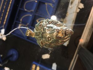 Gold Lion Head Pendant for Sale in Raleigh, NC