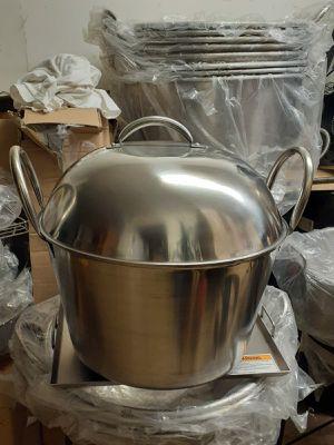 Olla tamalera de acero inoxidable de 60qt for Sale in Aurora, IL