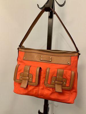 Kate Spade Manda Hanover Leather Bag, Brown and Orange for Sale in Alexandria, VA