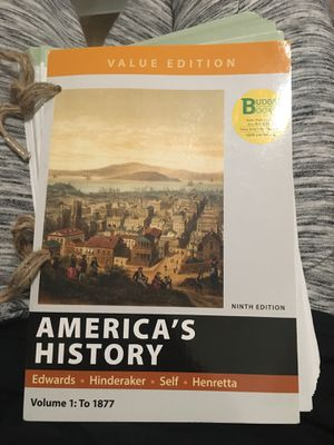 AMERICA'S HISTORY TEXTBOOK(no access code, just book) for Sale in San Jose, CA