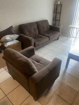 Sofa and Chair with Coffee Table for Sale in Orlando, FL