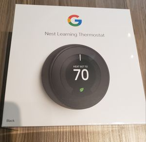 Google Nest Thermostat 3rd Generation Black - New for Sale in Grand Prairie, TX