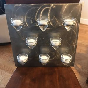 Brushed Nickel Votive Candle Holder for Sale in Silver Spring, MD