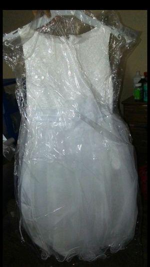 Flower girl dress white size 10/12. BRAND NEW for Sale in Columbus, OH