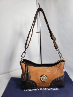 Dooney and Bourke Brown Suede Leather Bag Hobo for Sale in San Antonio, TX