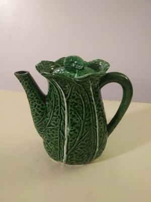Cabbage tea pot for Sale in Southbury, CT