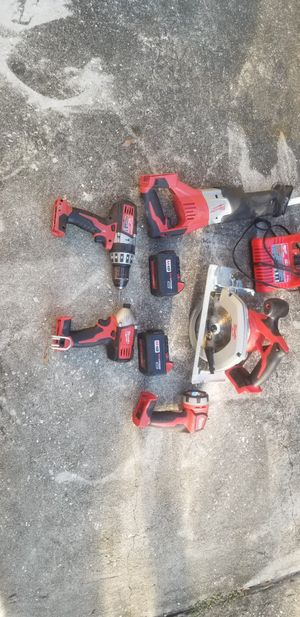 5 piece Milwaukee M18 tool set for Sale in Tampa, FL