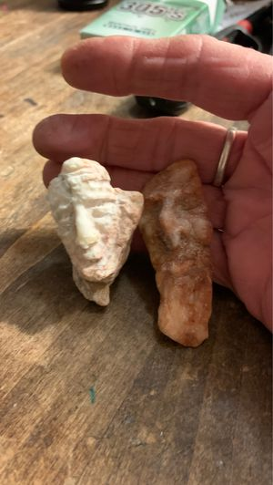 2 Homemade Beautifully Hand carved, Alabaster stone, good fortune charms for Sale in Moriarty, NM