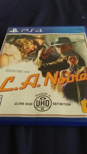 La Noire ps4 game for Sale in Avon Park, FL