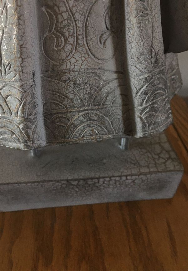 """Home decor coat on stand up 14"""" tall"""